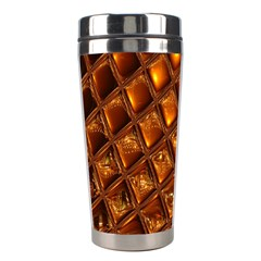 Caramel Honeycomb An Abstract Image Stainless Steel Travel Tumblers