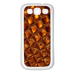 Caramel Honeycomb An Abstract Image Samsung Galaxy S3 Back Case (White)
