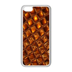 Caramel Honeycomb An Abstract Image Apple iPhone 5C Seamless Case (White)
