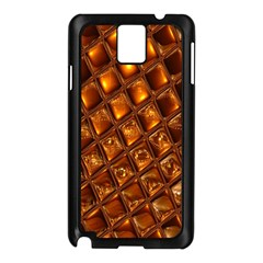 Caramel Honeycomb An Abstract Image Samsung Galaxy Note 3 N9005 Case (Black)