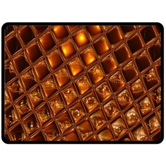 Caramel Honeycomb An Abstract Image Double Sided Fleece Blanket (Large)