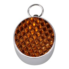 Caramel Honeycomb An Abstract Image Mini Silver Compasses