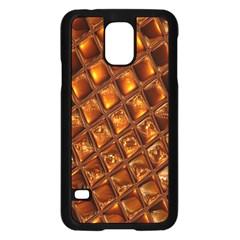 Caramel Honeycomb An Abstract Image Samsung Galaxy S5 Case (black)