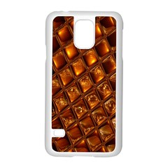 Caramel Honeycomb An Abstract Image Samsung Galaxy S5 Case (White)