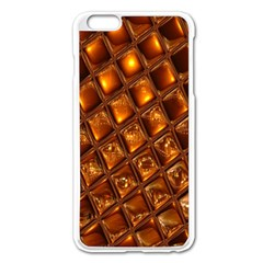 Caramel Honeycomb An Abstract Image Apple Iphone 6 Plus/6s Plus Enamel White Case