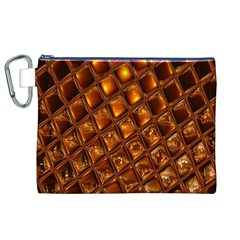 Caramel Honeycomb An Abstract Image Canvas Cosmetic Bag (xl)
