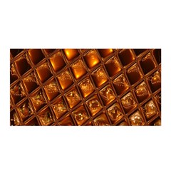 Caramel Honeycomb An Abstract Image Satin Wrap