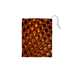 Caramel Honeycomb An Abstract Image Drawstring Pouches (xs)