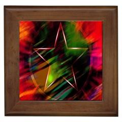 Colorful Background Star Framed Tiles