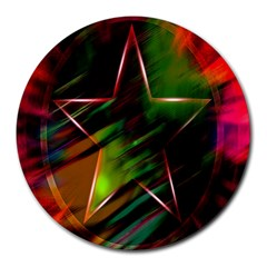 Colorful Background Star Round Mousepads
