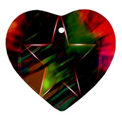 Colorful Background Star Ornament (Heart)