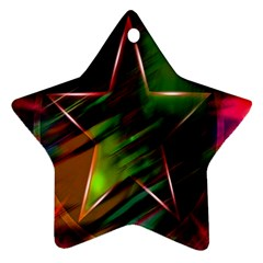 Colorful Background Star Ornament (star)