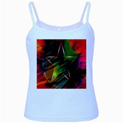 Colorful Background Star Baby Blue Spaghetti Tank
