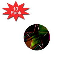 Colorful Background Star 1  Mini Buttons (10 pack)