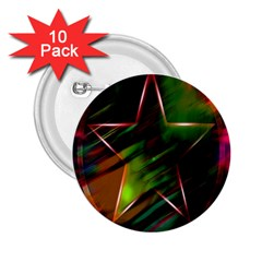 Colorful Background Star 2.25  Buttons (10 pack)