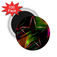Colorful Background Star 2 25  Magnets (100 Pack)