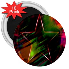Colorful Background Star 3  Magnets (10 Pack)
