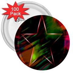 Colorful Background Star 3  Buttons (100 Pack)