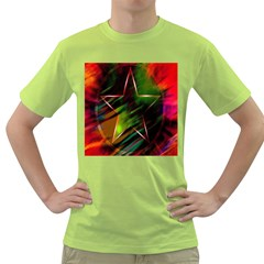 Colorful Background Star Green T Shirt