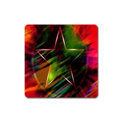 Colorful Background Star Square Magnet