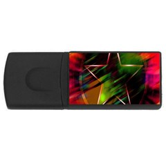 Colorful Background Star USB Flash Drive Rectangular (2 GB)