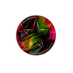 Colorful Background Star Hat Clip Ball Marker (10 pack)