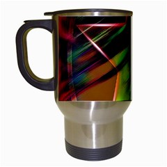 Colorful Background Star Travel Mugs (White)