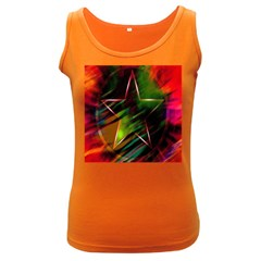 Colorful Background Star Women s Dark Tank Top