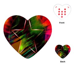 Colorful Background Star Playing Cards (heart)