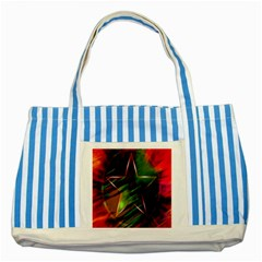 Colorful Background Star Striped Blue Tote Bag