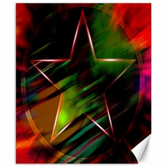 Colorful Background Star Canvas 8  x 10