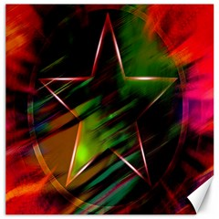 Colorful Background Star Canvas 12  X 12