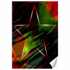 Colorful Background Star Canvas 12  X 18