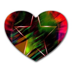 Colorful Background Star Heart Mousepads