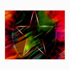 Colorful Background Star Small Glasses Cloth (2-Side)