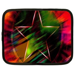 Colorful Background Star Netbook Case (large)