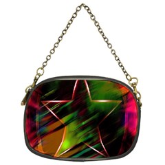 Colorful Background Star Chain Purses (two Sides)