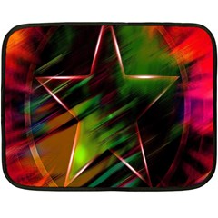 Colorful Background Star Double Sided Fleece Blanket (mini)