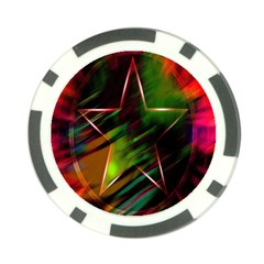 Colorful Background Star Poker Chip Card Guard (10 pack)