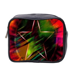 Colorful Background Star Mini Toiletries Bag 2-Side