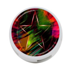 Colorful Background Star 4 Port Usb Hub (two Sides)