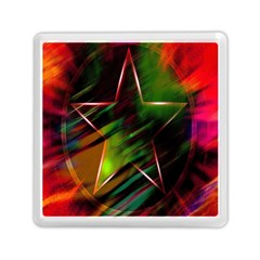 Colorful Background Star Memory Card Reader (square)