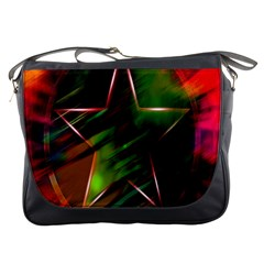 Colorful Background Star Messenger Bags