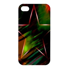 Colorful Background Star Apple iPhone 4/4S Premium Hardshell Case