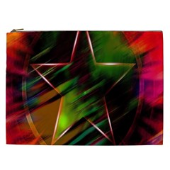 Colorful Background Star Cosmetic Bag (XXL)