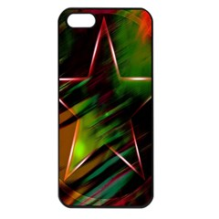 Colorful Background Star Apple iPhone 5 Seamless Case (Black)
