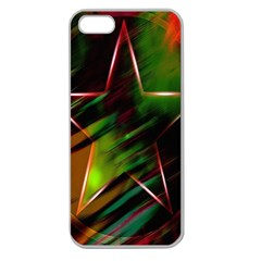 Colorful Background Star Apple Seamless iPhone 5 Case (Clear)