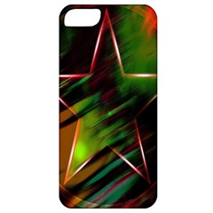 Colorful Background Star Apple iPhone 5 Classic Hardshell Case