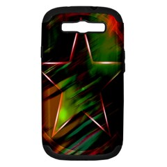 Colorful Background Star Samsung Galaxy S Iii Hardshell Case (pc+silicone)