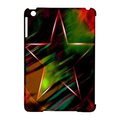 Colorful Background Star Apple iPad Mini Hardshell Case (Compatible with Smart Cover)